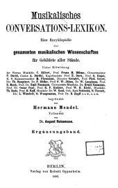 Musikalisches Conversations-Lexikon. Ergänzungsband