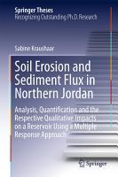 Soil Erosion and Sediment Flux in Northern Jordan PDF