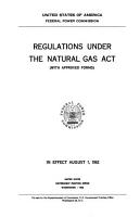 Regulations Under the Natural Gas Act PDF