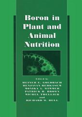 Boron in Plant and Animal Nutrition