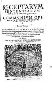 Receptarum Sententiarum ... sive ... communium opinionum iurisconsultorum ... Opus: Volume 3
