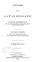 Lectures on the Law of England PDF