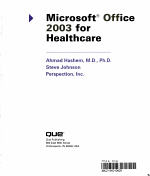 Microsoft Office 2003 for Healthcare PDF