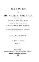Memoirs of Sir William Knighton  2 PDF