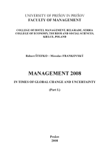 Proceedings of the Management 2008 conference In Times of Global Change and Uncertainity PDF