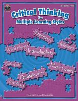 Critical Thinking for Multiple Learning Styles PDF