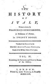 The History of Italy: Written in Italian, Volume 4