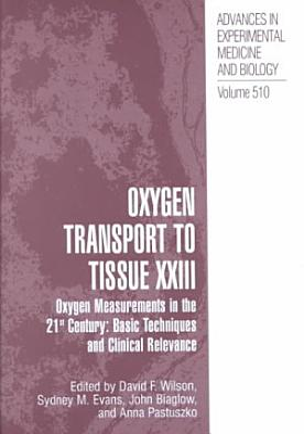 Oxygen Transport To Tissue XXIII PDF
