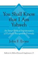 You Shall Know That I Am Yahweh PDF