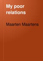 My Poor Relations PDF