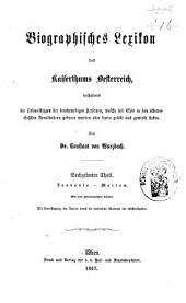 Biographisches Lexicon des Kaiserthums Österreich, enthaltend die Lebensskizzen der denkwürdigen Personen, welche 1750 bis 1850 im Kaiserstaate und in seinen Kronländern ... gelebt haben: Band 22
