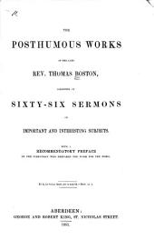 The Whole Works of the Late Reverend and Learned Mr. Thomas Boston, Minister of the Gospel at Etterick: Volume 9