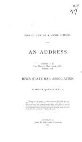 English Law as a Social Science