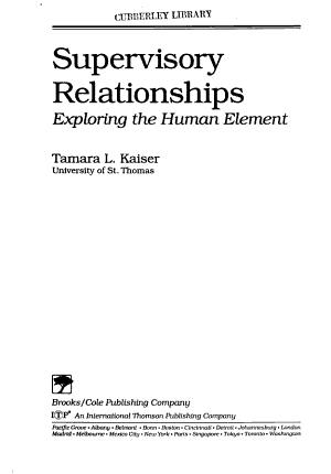 Supervisory Relationships PDF