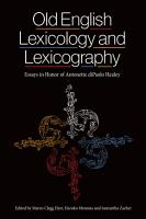 Old English Lexicology and Lexicography PDF