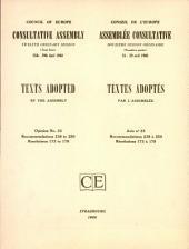 Textes Adoptés : Résolutions 210 À 217