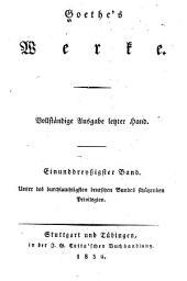 Goethe's Werke: Vollständige Ausgabe letzter Hand, Bände 31-32