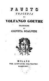 Fausto; tragedia; - Milano, Giovanni Silvestri 1835