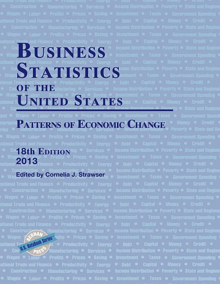 Business Statistics of the United States 2013