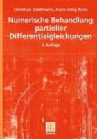 Numerische Behandlung partieller Differentialgleichungen PDF