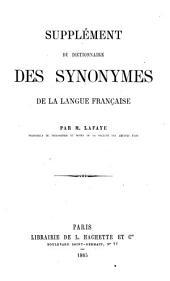 Supplément du Dictionnaire des synonymes de la langue française