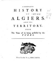History Of Algiers Book PDF