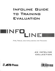 Info line Guide to Training Evaluation PDF