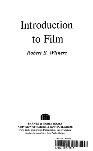 Introduction to Film PDF