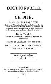Dictionnaire de chimie: Volume1