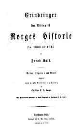 Erindringer som bidrag til Norges historie fra 1800 til 1815