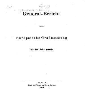 General bericht   ber die Europ  ische gradmessung     PDF