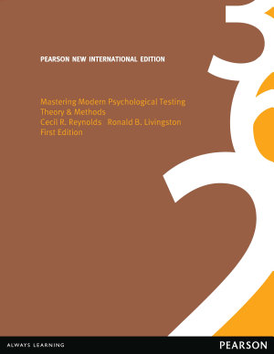 Mastering Modern Psychological Testing: Pearson New International Edition