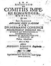 Diss. de comitiis Imperii Romano-Germanici
