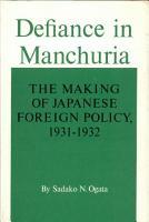 Defiance in Manchuria PDF