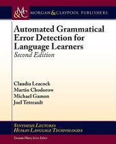 Automated Grammatical Error Detection for Language Learners: Second Edition, Edition 2