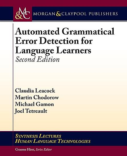 Automated Grammatical Error Detection for Language Learners PDF