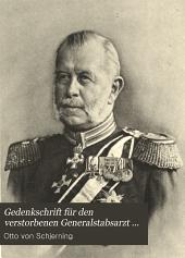 Gedenkschrift fur den verstorbenen Generalstabsarzt der Armee ... Dr. Rudolph v. Leuthold: Band 1