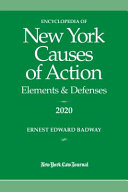 Encyclopedia of New York Causes of Action 2020