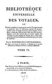 Bibliotheque universelle des voyages, ou notice complete et raisonnee de tous les voyages anciens et modernes (etc.)