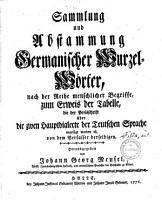 Fulda s Sammlung und Abstammung germanischer Wurzelw  rter PDF