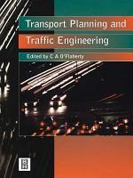 Transport Planning and Traffic Engineering
