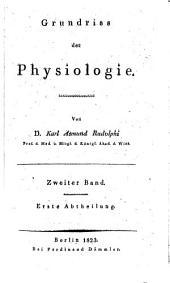 Grundriss der Physiologie: Band 2,Ausgabe 1