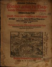 Ordenliche Beschreibung, Welcher gestalt die Nachbarliche Bündnuß vnd Verain der dreyen Löblichen Freien Stätt Zürich, Bern vnd Straßburg ... 1588 ... ist ernewert ... vnd vollzogen worden: Sampt etlichen Poetischen Glückwünschungen ...