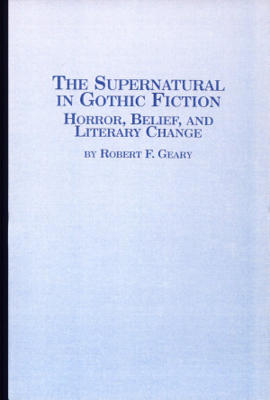 The Supernatural in Gothic Fiction PDF