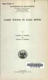 Gases found in coal mines