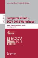 Computer Vision – ECCV 2018 Workshops