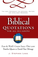 Biblical Quotations for All Occasions PDF