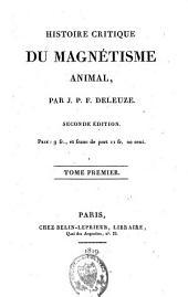Histoire critique du magnétisme animal: Volume1