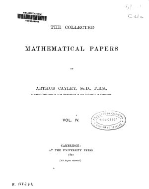 The Collected Mathematical Papers PDF