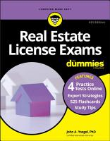 Real Estate License Exams For Dummies with Online Practice Tests PDF